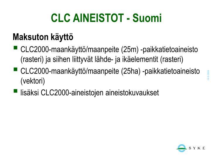 CLC AINEISTOT - Suomi