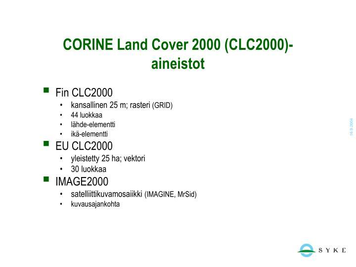 CORINE Land Cover 2000 (CLC2000)-