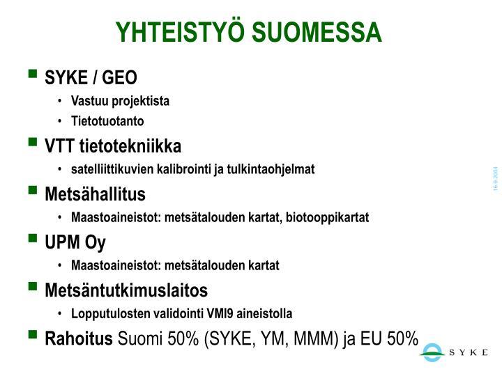 YHTEISTYÖ SUOMESSA