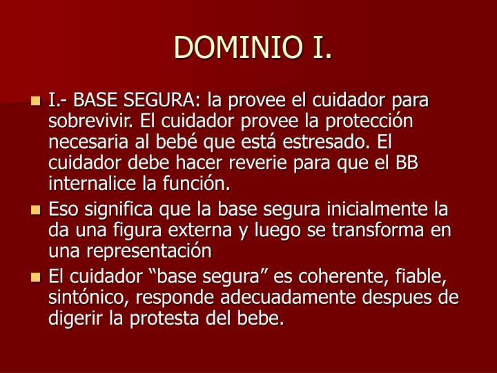 DOMINIO I.