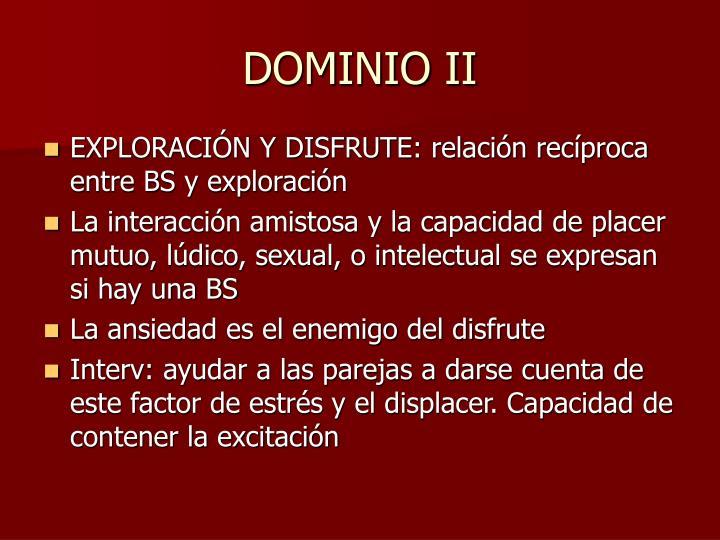 DOMINIO II