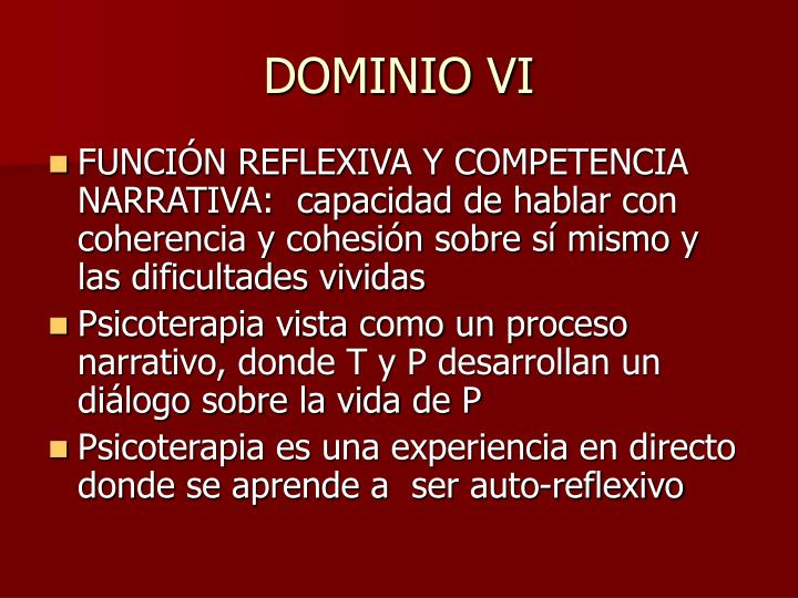 DOMINIO VI