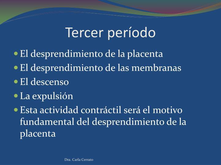 Tercer período
