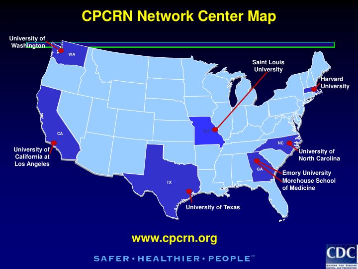 CPCRN Network Center Map