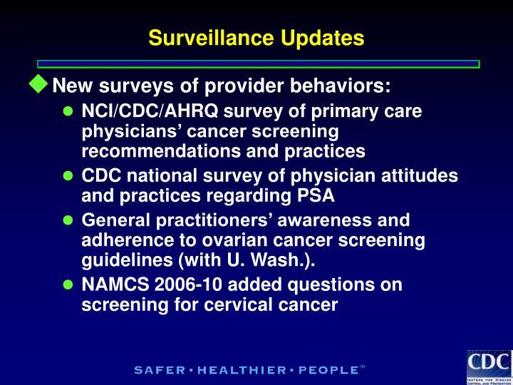 Surveillance Updates