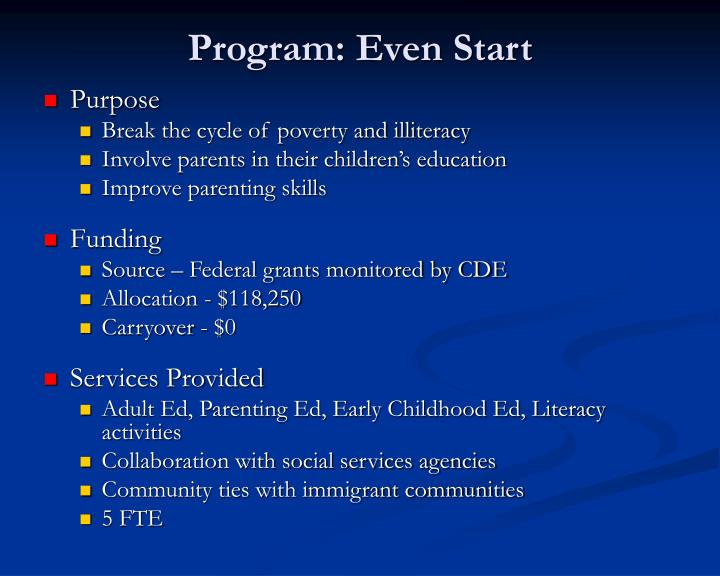 Program: Even Start