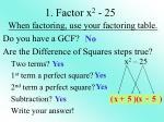 1 factor x 2 25