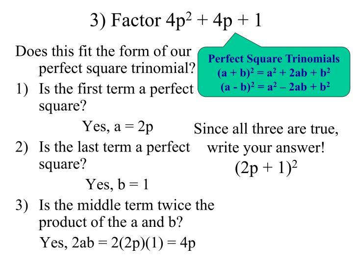 3) Factor 4