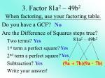3 factor 81a 2 49b 2