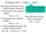 4 factor 25x 2 110xy 121y 2
