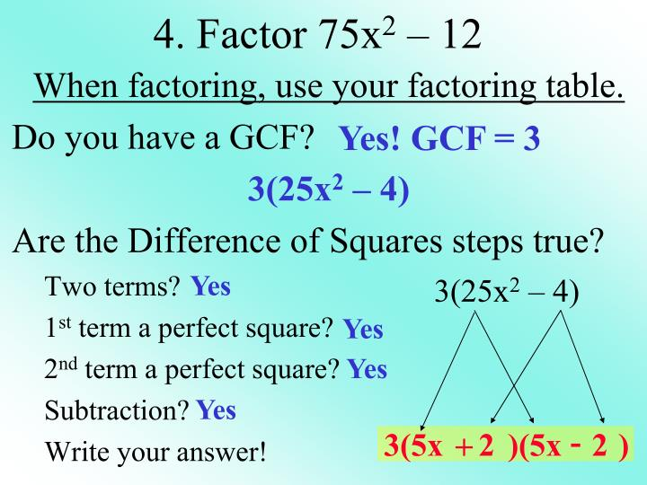 Yes! GCF = 3