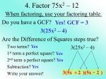 4 factor 75x 2 12
