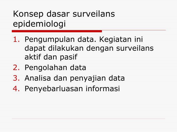 Konsep dasar surveilans epidemiologi