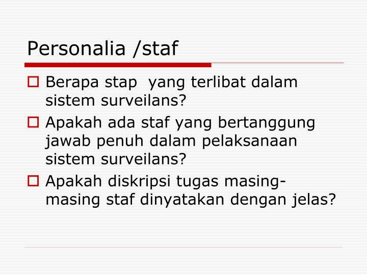 Personalia /staf