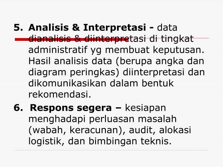 Analisis & Interpretasi -