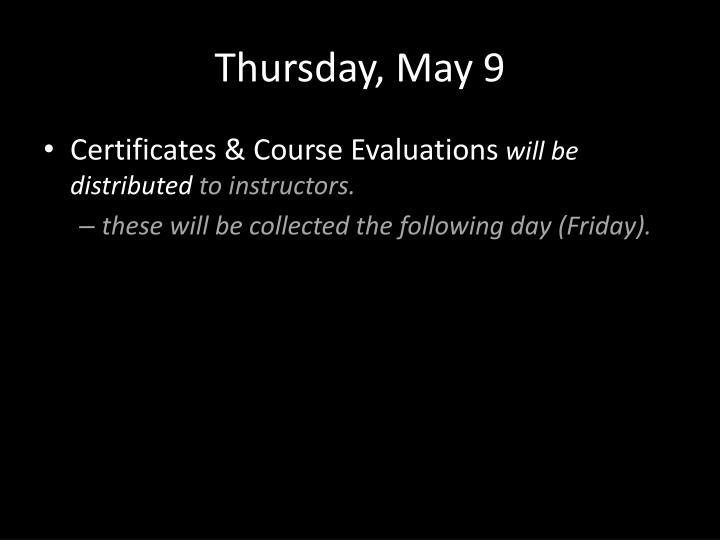 Thursday, May