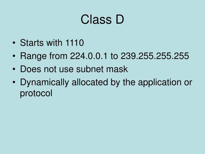 Class D