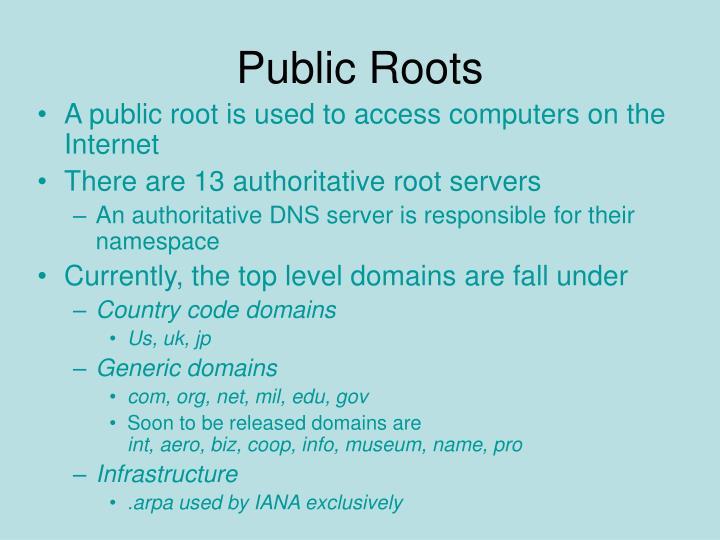 Public Roots