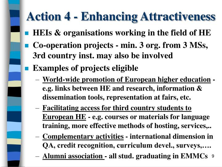 Action 4 - Enhancing Attractiveness