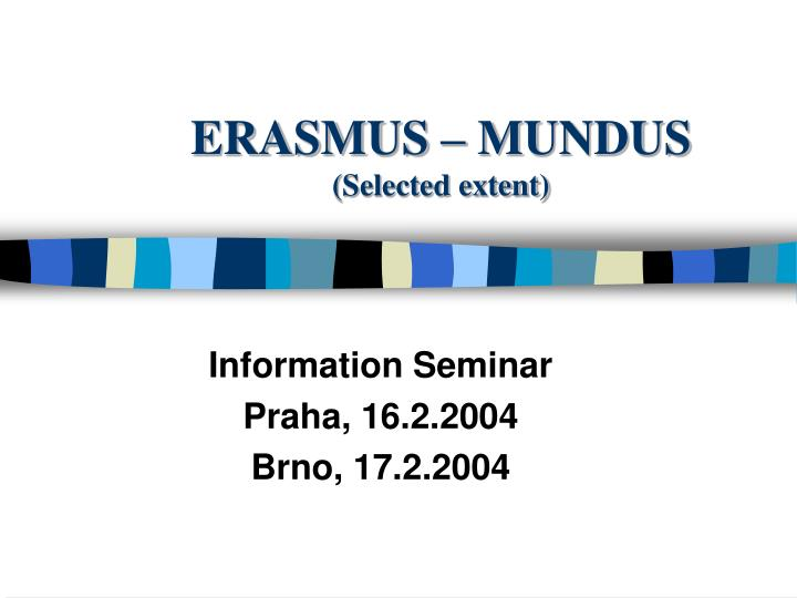 erasmus mundus selected extent