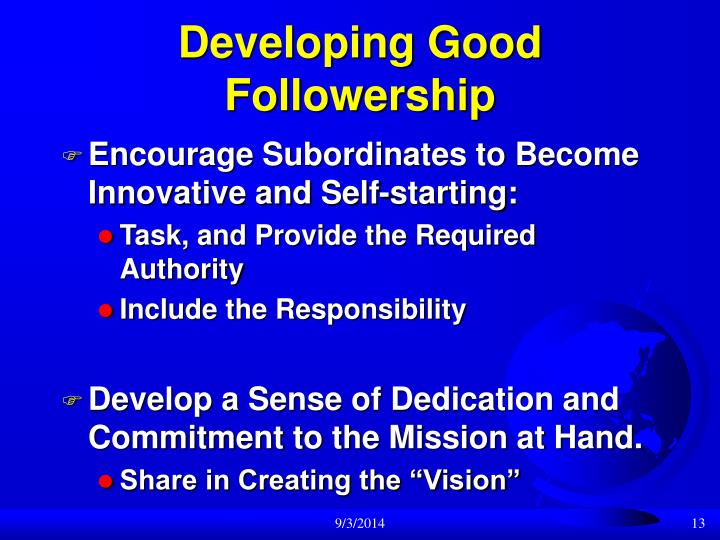 Developing Good Followership