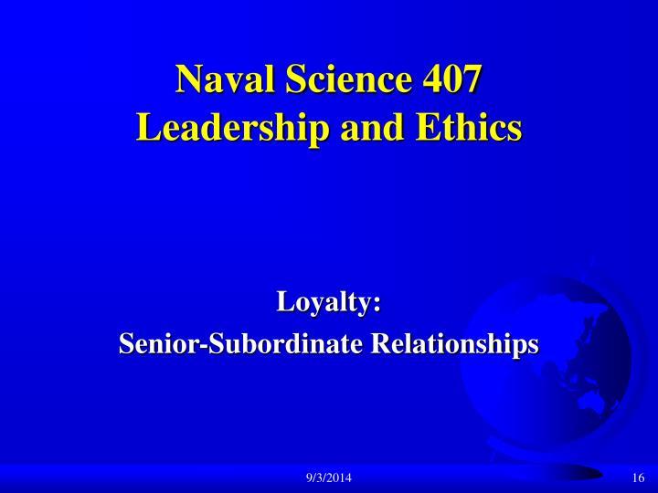 Naval Science 407