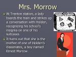 mrs morrow