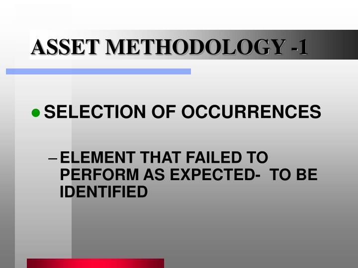 ASSET METHODOLOGY -1