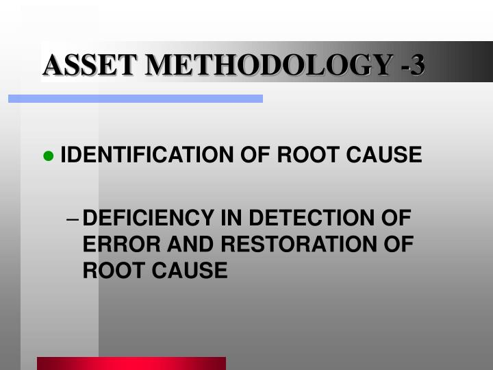 ASSET METHODOLOGY -3