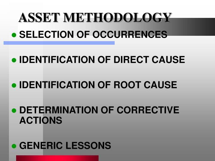 ASSET METHODOLOGY
