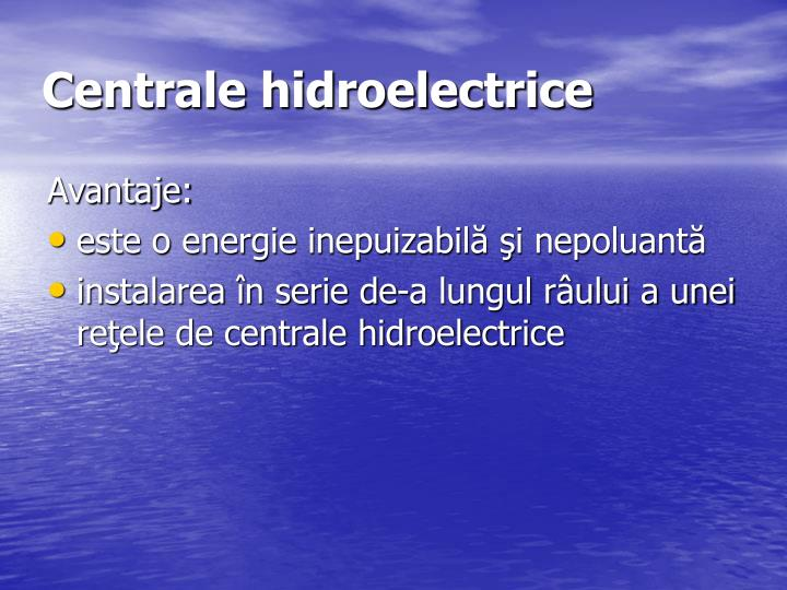 Centrale hidroelectrice