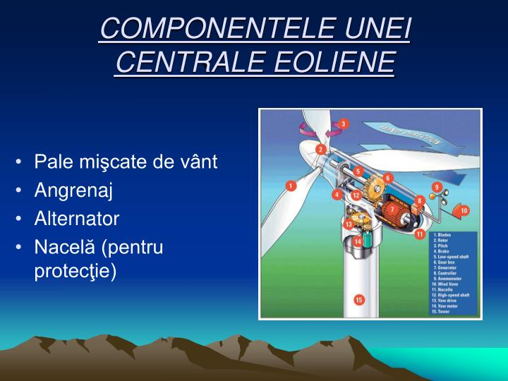 COMPONENTELE UNEI CENTRALE EOLIENE