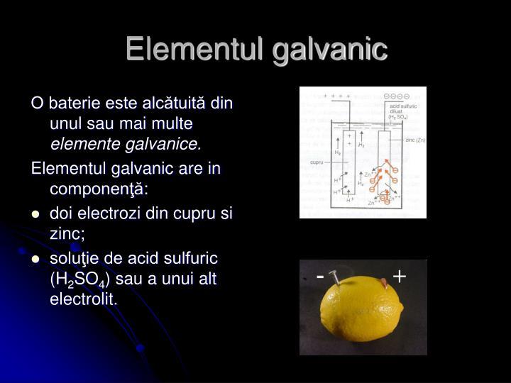 Elementul galvanic