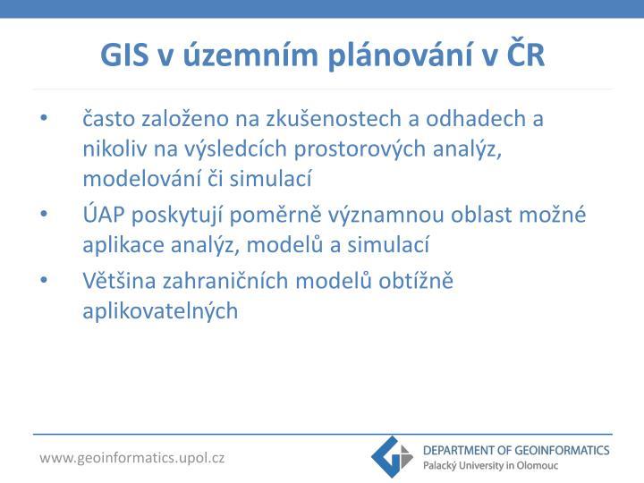 GIS v územním plánování v ČR