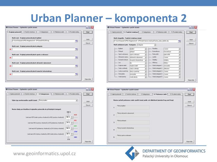 Urban Planner – komponenta 2
