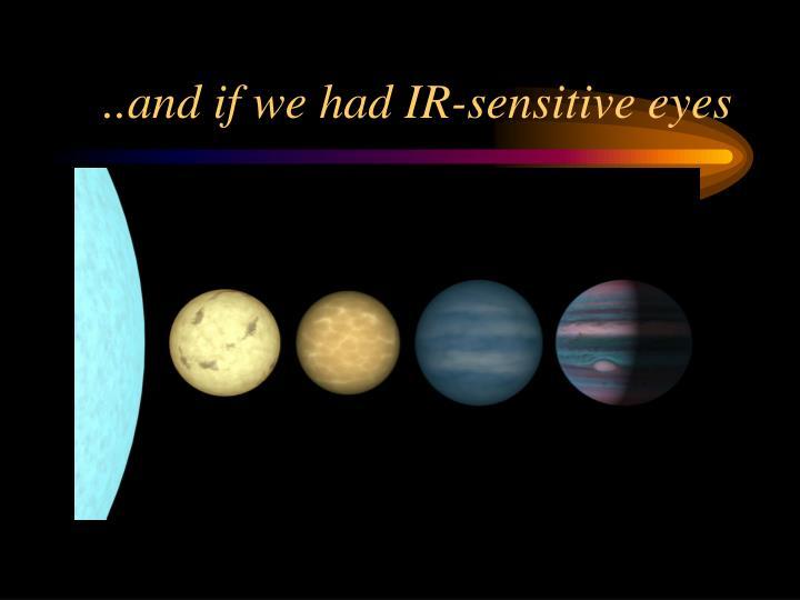 ..and if we had IR-sensitive eyes