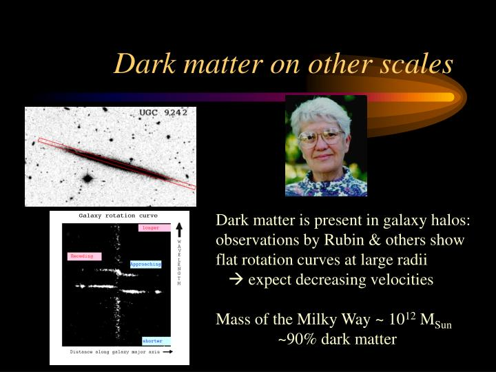 Dark matter on other scales