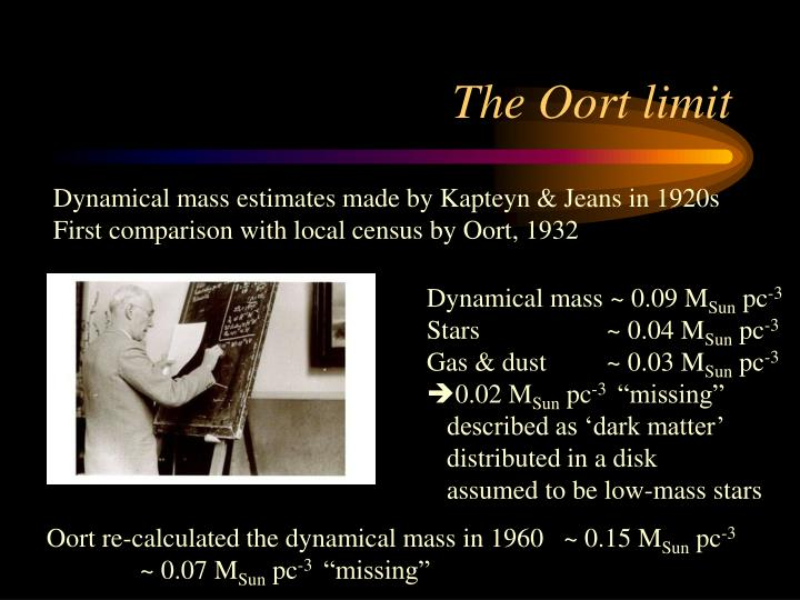 The Oort limit