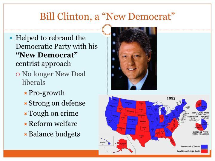 """Bill Clinton, a """"New Democrat"""""""
