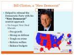 bill clinton a new democrat