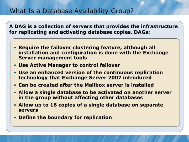What Is a Database Availability Group?