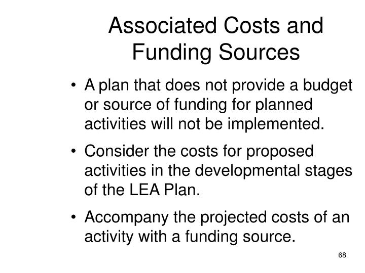 Associated Costs and Funding Sources