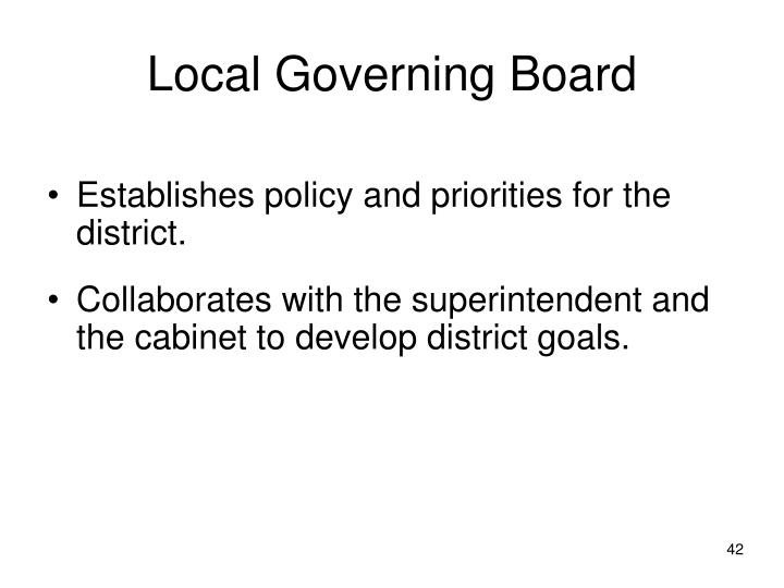 Local Governing Board