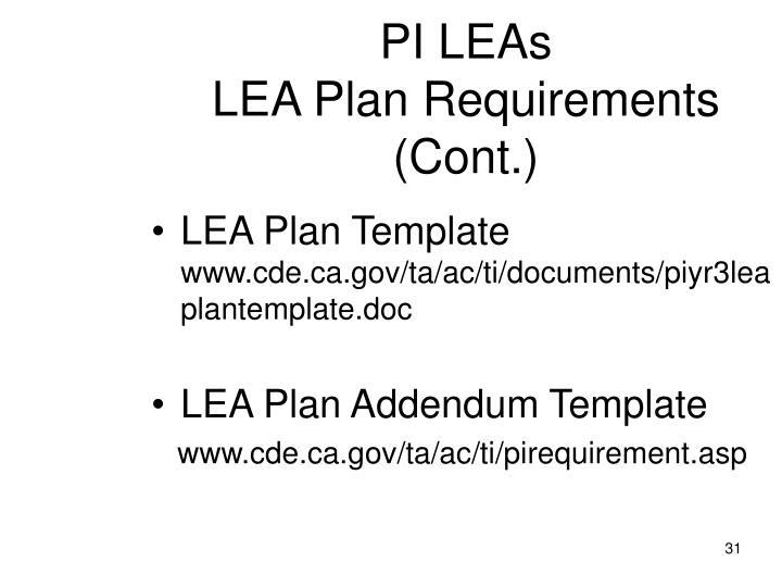 LEA Plan Template