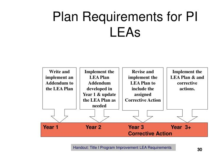 Plan Requirements for PI LEAs