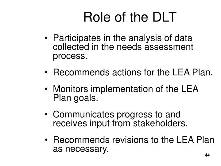 Role of the DLT