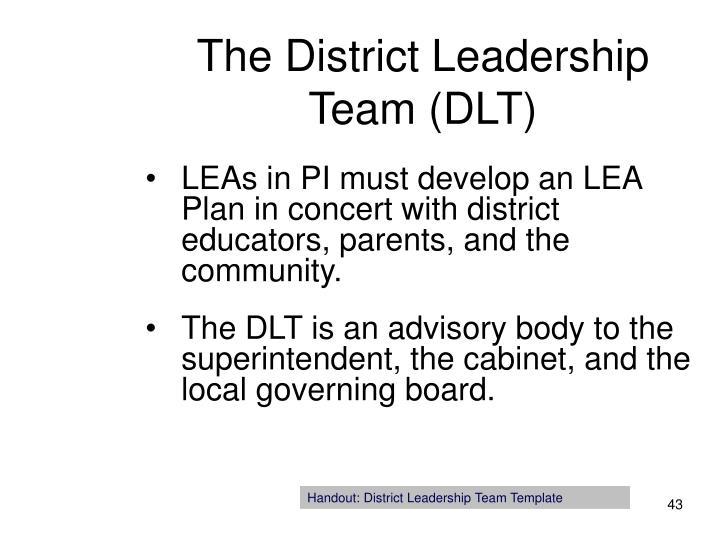 The District Leadership Team (DLT)