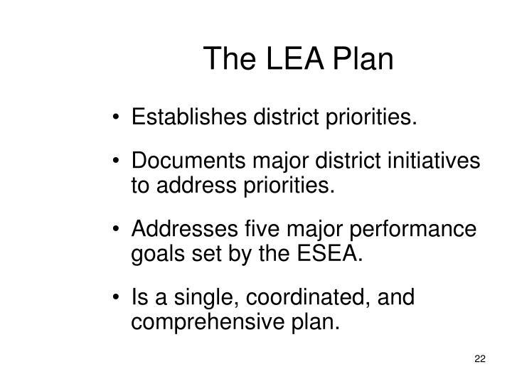 The LEA Plan