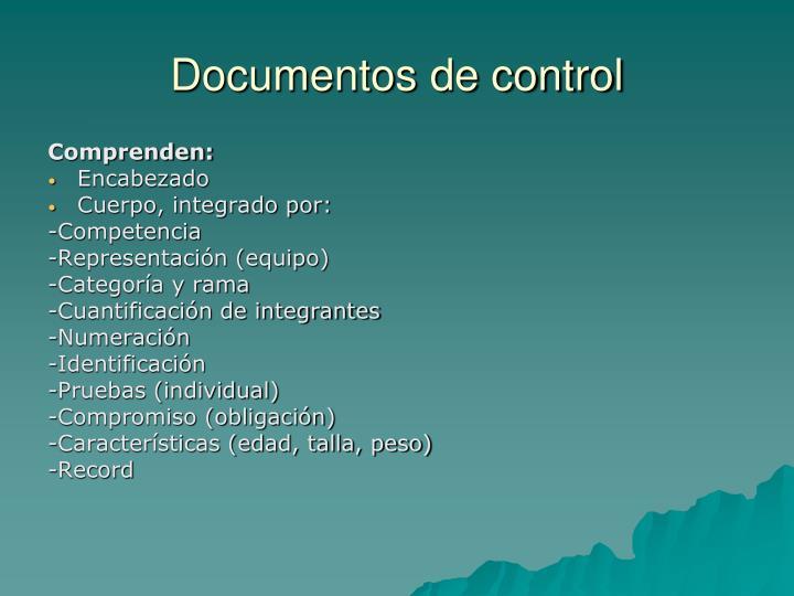 Documentos de control