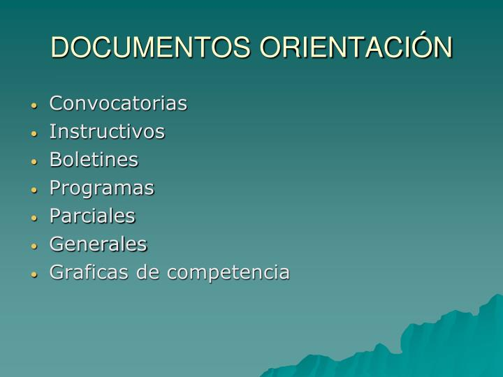 Documentos orientaci n